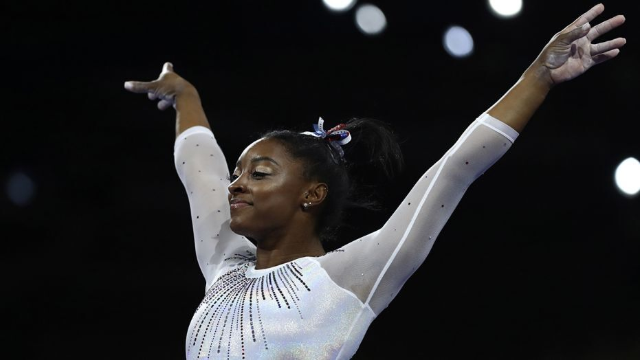 Simone Biles becomes most-decorated gymnast at world championships with 24th medal